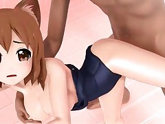 Anime 3D cat girl sexy